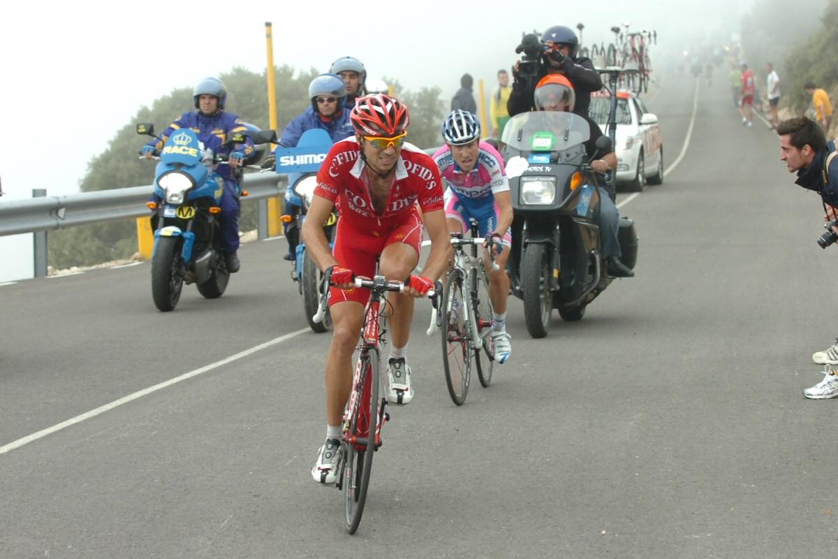 David Moncoutié à l'avant sur la Vuelta 2009