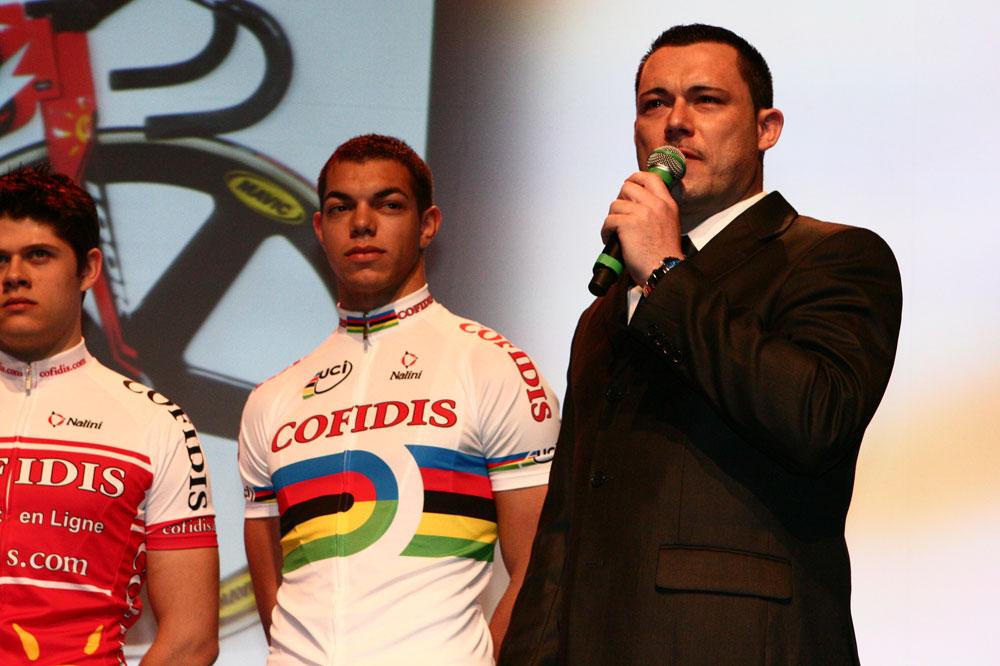 Arnaud Tournant, directeur sportif de Cofidis Piste