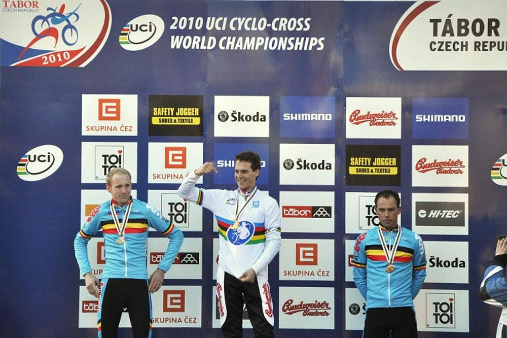 Entre Klaas Vantornout et Sven Nys, Zdenek Stybar est bien le nouveau champion du monde