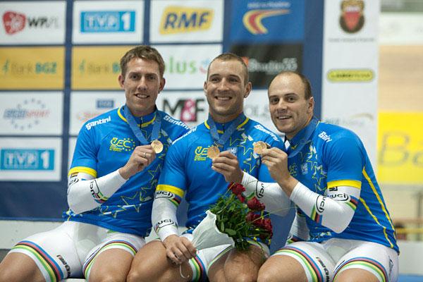 Champions du monde et... champions d'Europe de vitesse par équipes