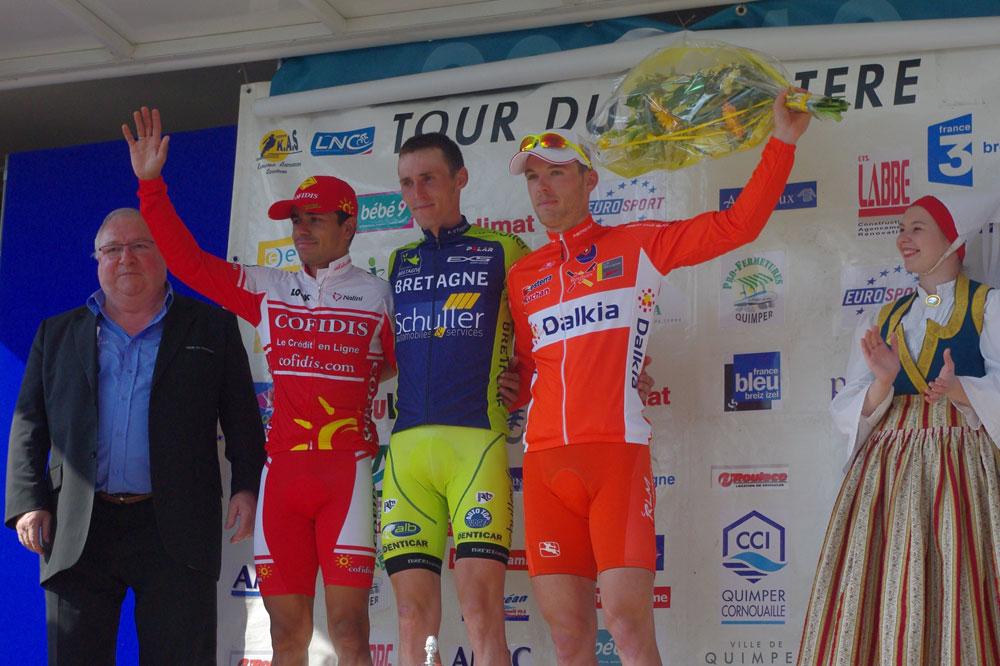 Le podium du Tour du Finistère
