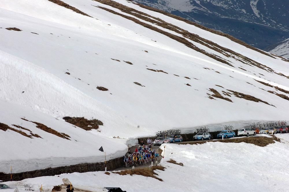 Le Giro 2010 dans les Dolomites