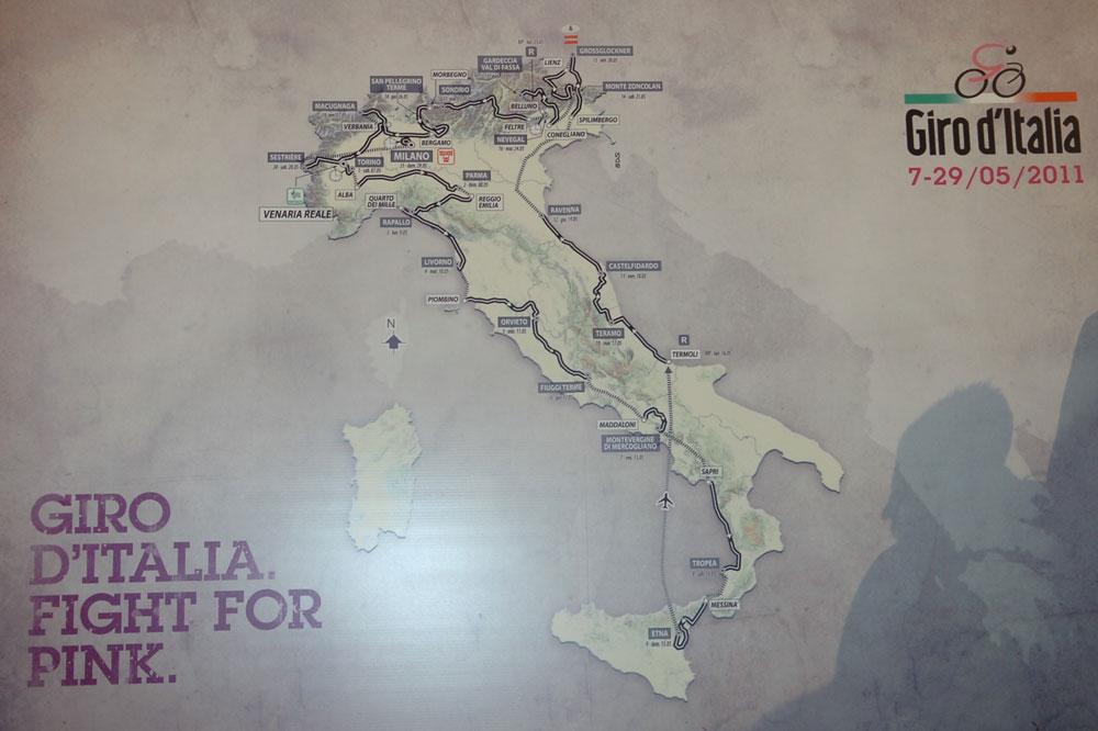 Le tracé du Giro 2011