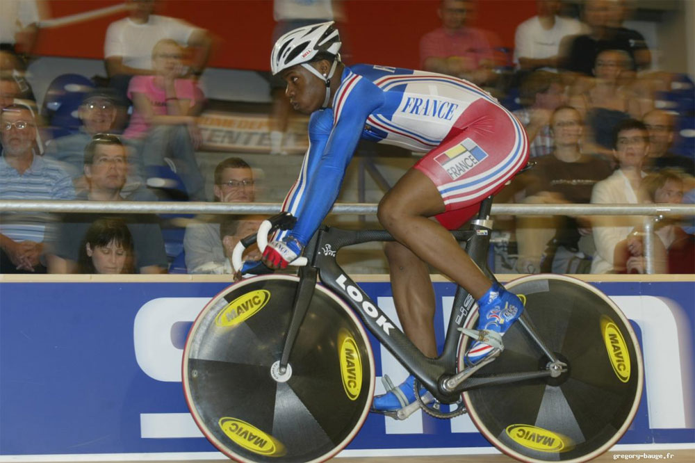 Le champion du monde de vitesse Grégory Baugé