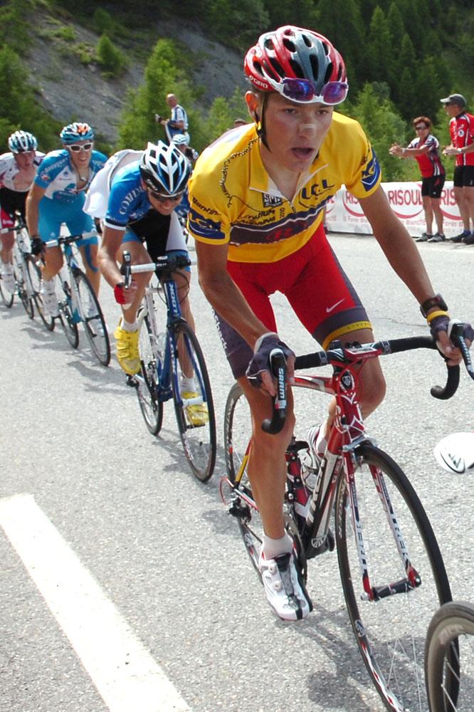 Janez Brajkovic concentré dans Risoul.