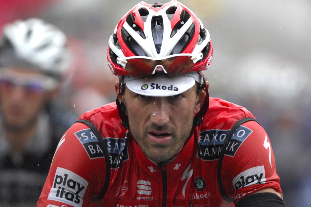 Journée pluvieuse pour Cancellara