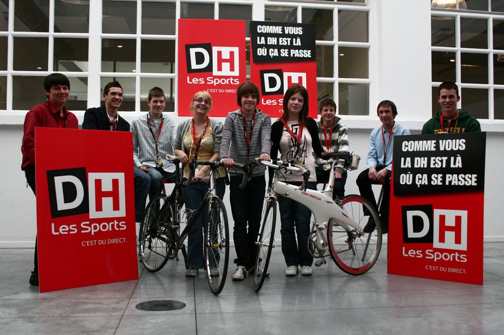 Les candidats belges aux Jeunes Reporters du Tour