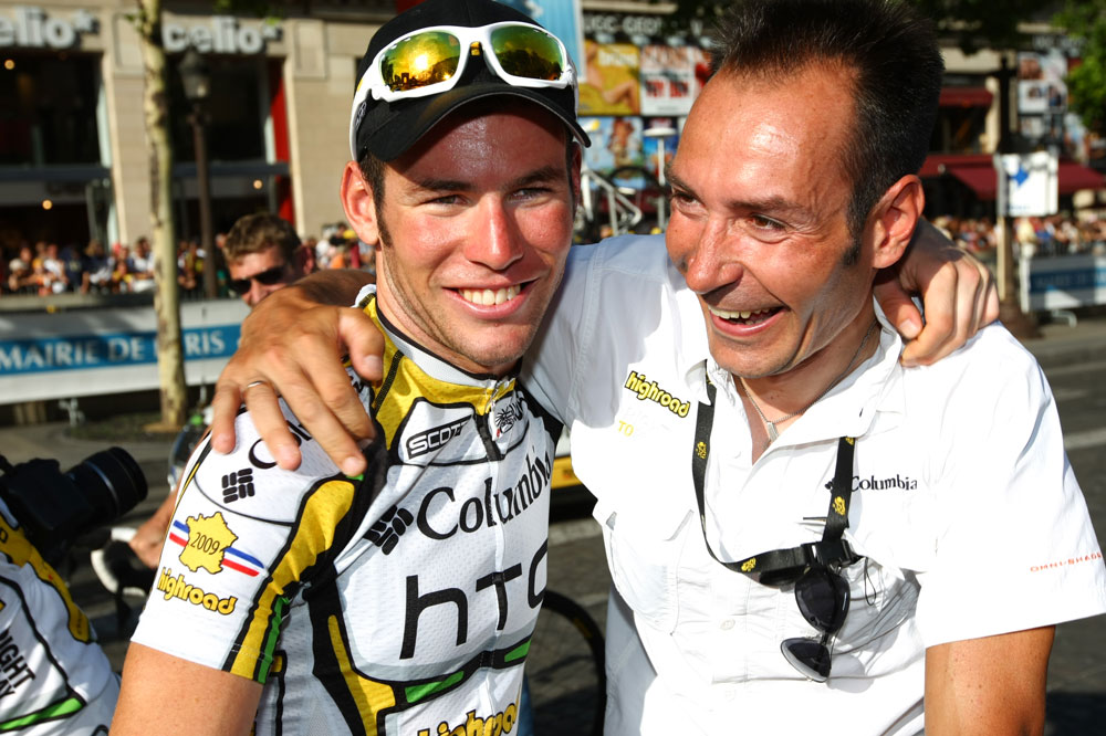 Mark Cavendish et son mentor Erik Zabel