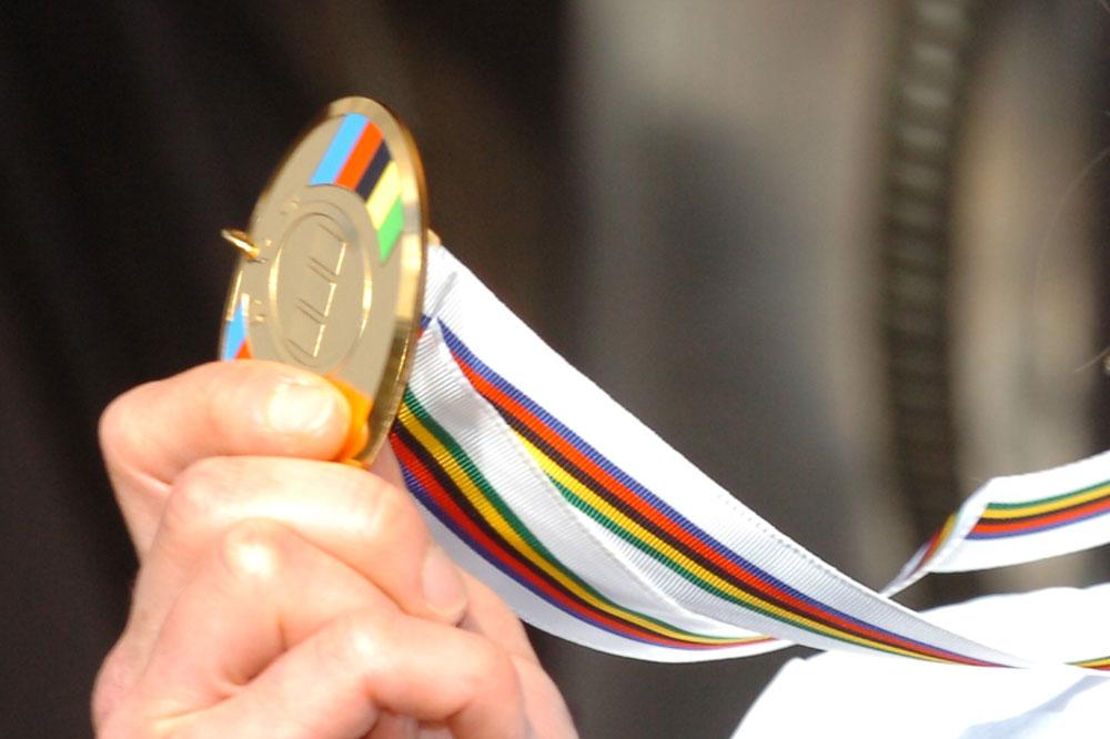 La médaille d'or des Championnats du Monde