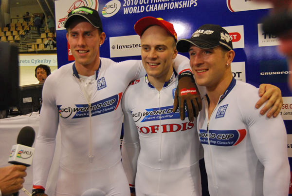 Les Allemands champions du monde de vitesse par équipes