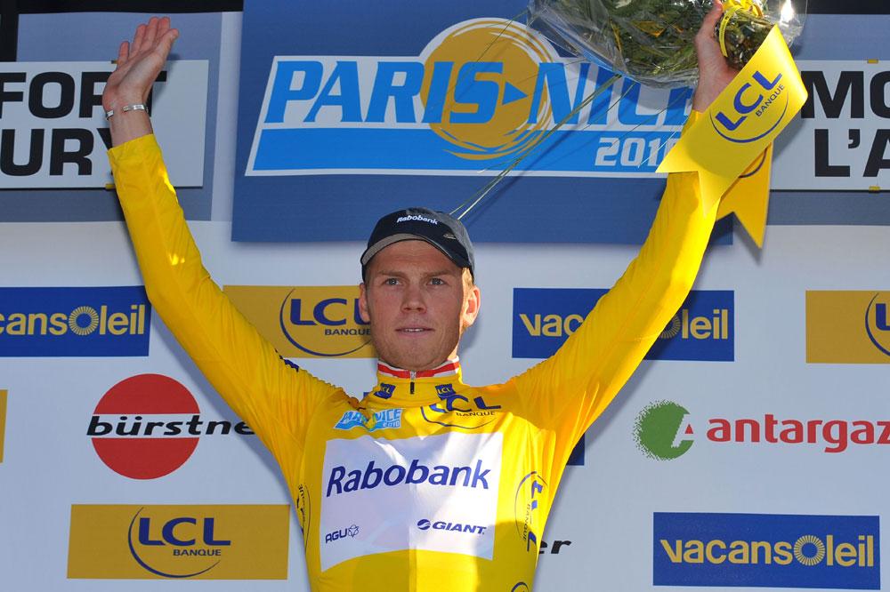 Le premier maillot jaune pour Lars Boom