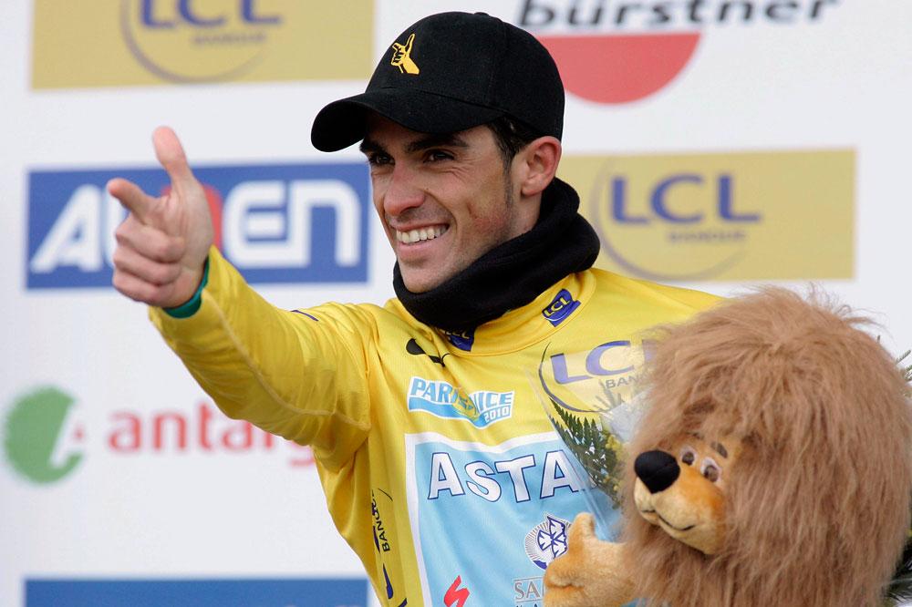 A Mende, Alberto Contador prend possession du Maillot Jaune