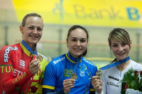 Sandie Clair championne d'Europe de vitesse individuelle à Pruszkow