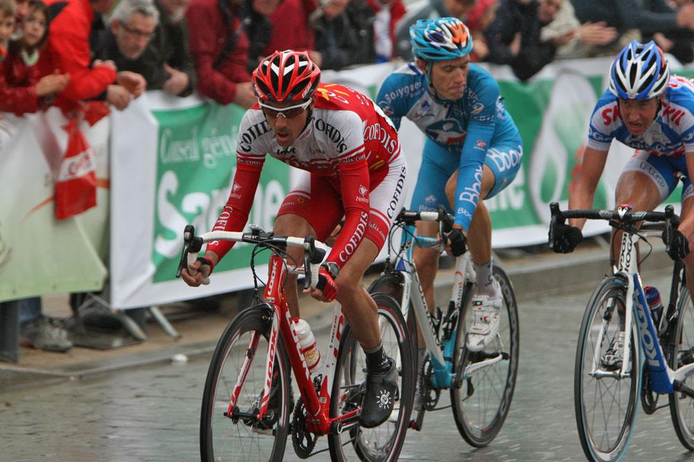 Sébastien Minard en tête de course