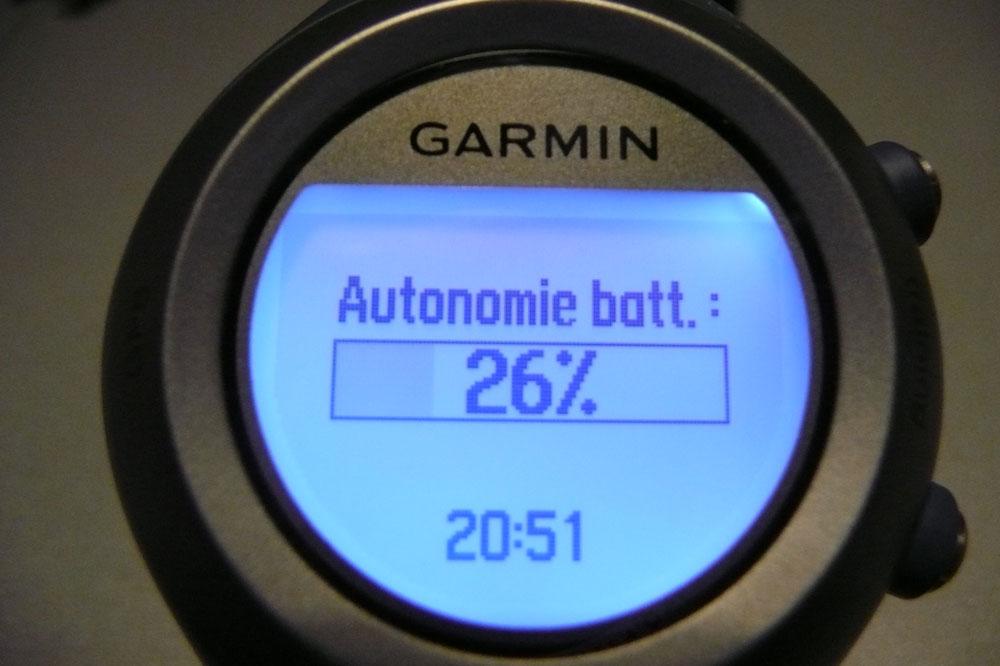 Indication de l'autonomie de la batterie
