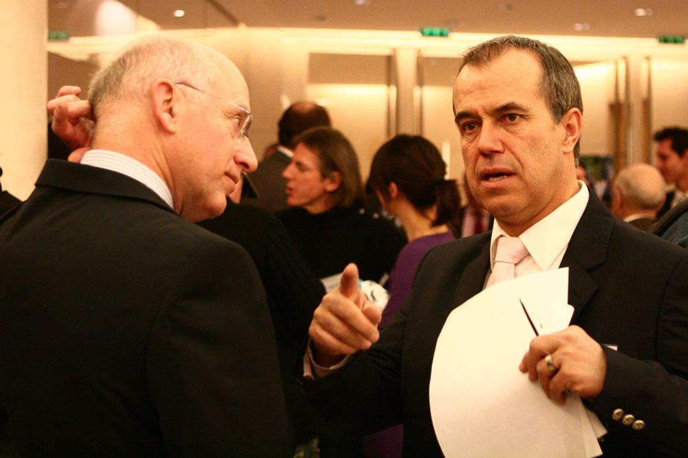 Entre Vincent Lavenu et André Renaudin, directeur général Ag2r La Mondiale, un partenariat solide