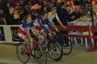 Le podium des féminines : Linda Michelini, Alexia Muffat, Capucine Asathal