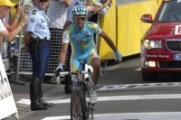 Alberto Contador victime d'un souci mécanique