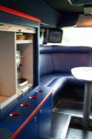 L'arrière du bus Cofidis, un espace intime