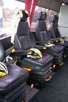 Des sièges amovibles dans le bus des HTC-Columbia