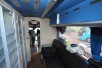 L'espace vestiaire, situé dans le fond du bus