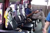 Erik Zabel profite du confort du bus HTC-Columbia