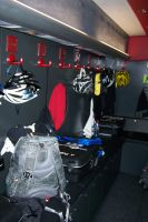 Chez Saxo Bank, chaque coureur possède son petit coin de vestiaire