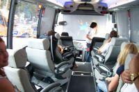 L'habitacle du bus des Sky