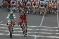 Lance Armstrong fait le spectacle avec Oscar Pereiro