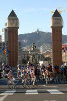 Le peloton entre dans Barcelone