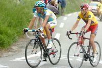 Brajkovic rivalise avec Contador sur les pentes de l'Alpe d'Huez