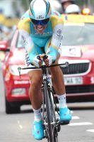 Alberto Contador réalise le 6ème temps, à 27 secondes de Cancellara