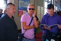 Alexander Vinokourov en homme d'affaires, c'est lui qui négocie les partenaires sur Eurobike