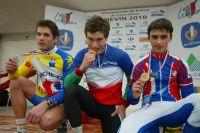Le podium des Championnats de France Juniors de cyclo-cross 2010