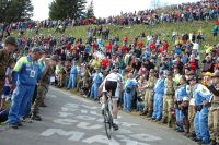 Impuissant, Cadel Evans laisse partir Ivan Basso à travers une foule considérable