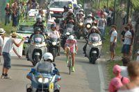 Ivan Basso escorté vers les arènes de Vérone