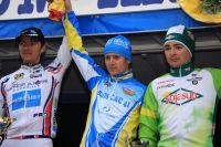 Le podium du GP de Saint-Etienne Loire avec Ramunas Navardauskas, Dmitry Samokhvalov et Christophe Laborie