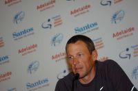 Lance Armstrong reçoit la presse à Adélaïde