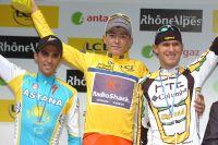 Le podium de ce Dauphiné, Brajkovic devant Contador et Van Garderen