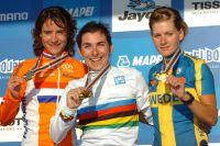Marianne Vos, Giorgia Bronzini, Emma Johannson, le podium féminin des Championnats du Monde