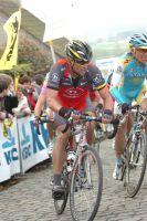 Lance Armstrong sur les pavés des Flandres