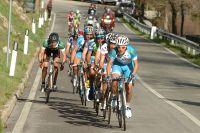 Domenico Pozzovivo entraîne la bonne échappée dans la montée finale