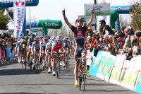 Pas besoin de photo-finish sur la ligne : Luis-Leon Sanchez est nettement le lauréat