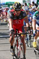 Lance Armstrong en rodage sur les routes sarthoises