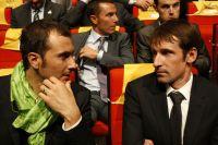 Ivan Basso et Denis Menchov échangent leur opinion sur le tracé 2011