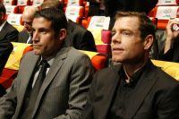 George Hincapie et Cadel Evans étudient le tracé du Tour 2011