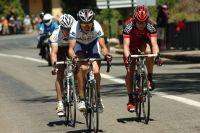Les trois animateurs du jour : Tim Roe (UniSA-Australia) emmène Martin Kohler (BMC Racing Team) et Blel Kadri (Ag2r La Mondiale)