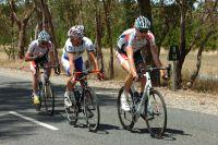 L'échappée du jour : Olivier Kaisen (Omega Pharma-Lotto), David Kemp (UniSA-Australia) et Mickaël Delage (Omega Pharma-Lotto)