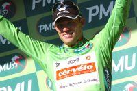 Thor Hushovd en vert et contre tous les autres sprinteurs