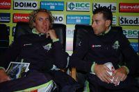 Franco Pellizotti et Vincenzo Nibali leaders de Liquigas sur Tirreno